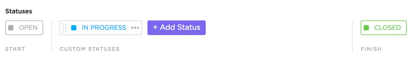 in progress custom status