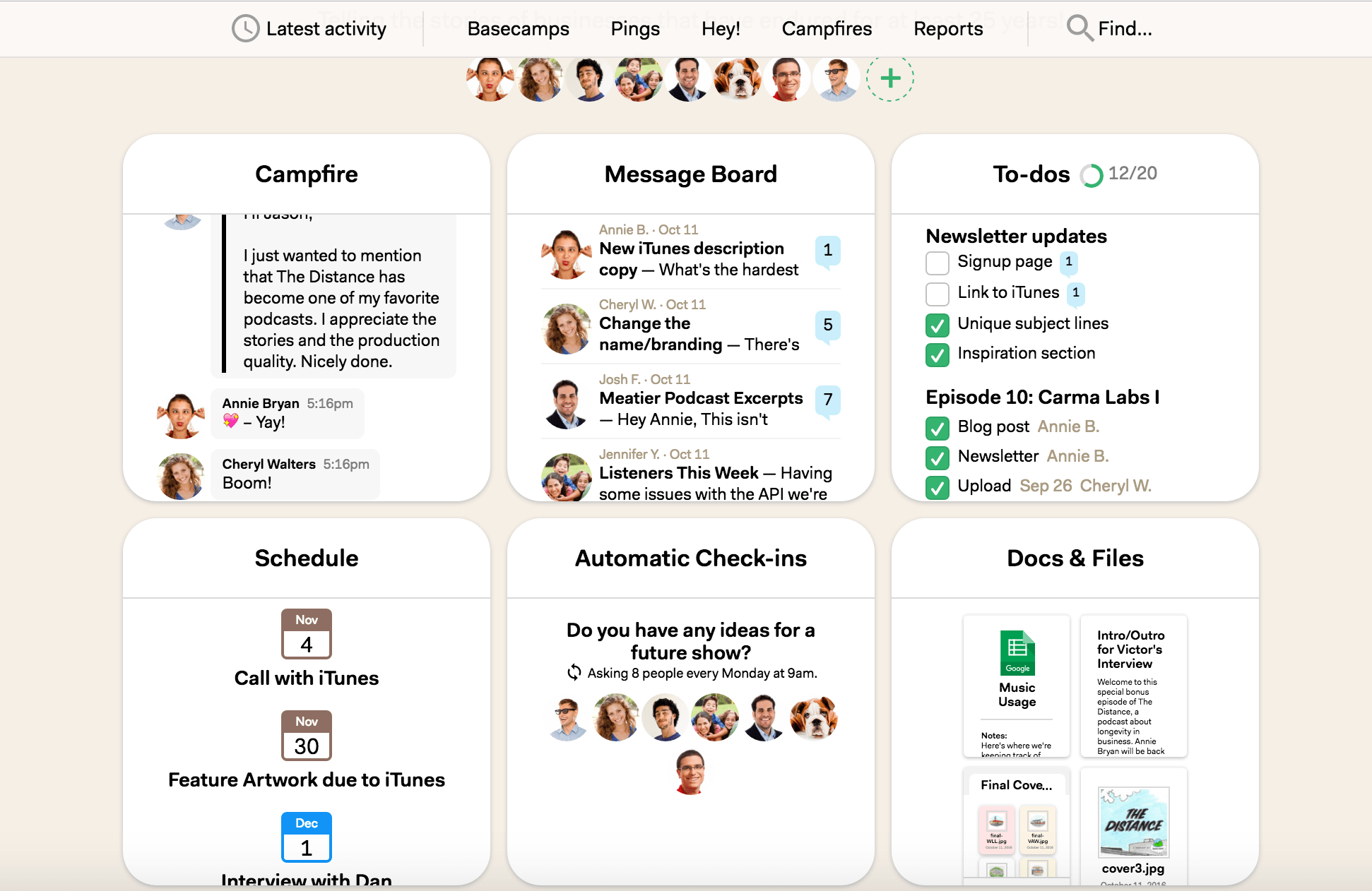 basecamp project management platform