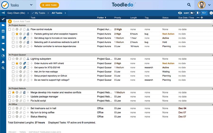 toodledo to-do app