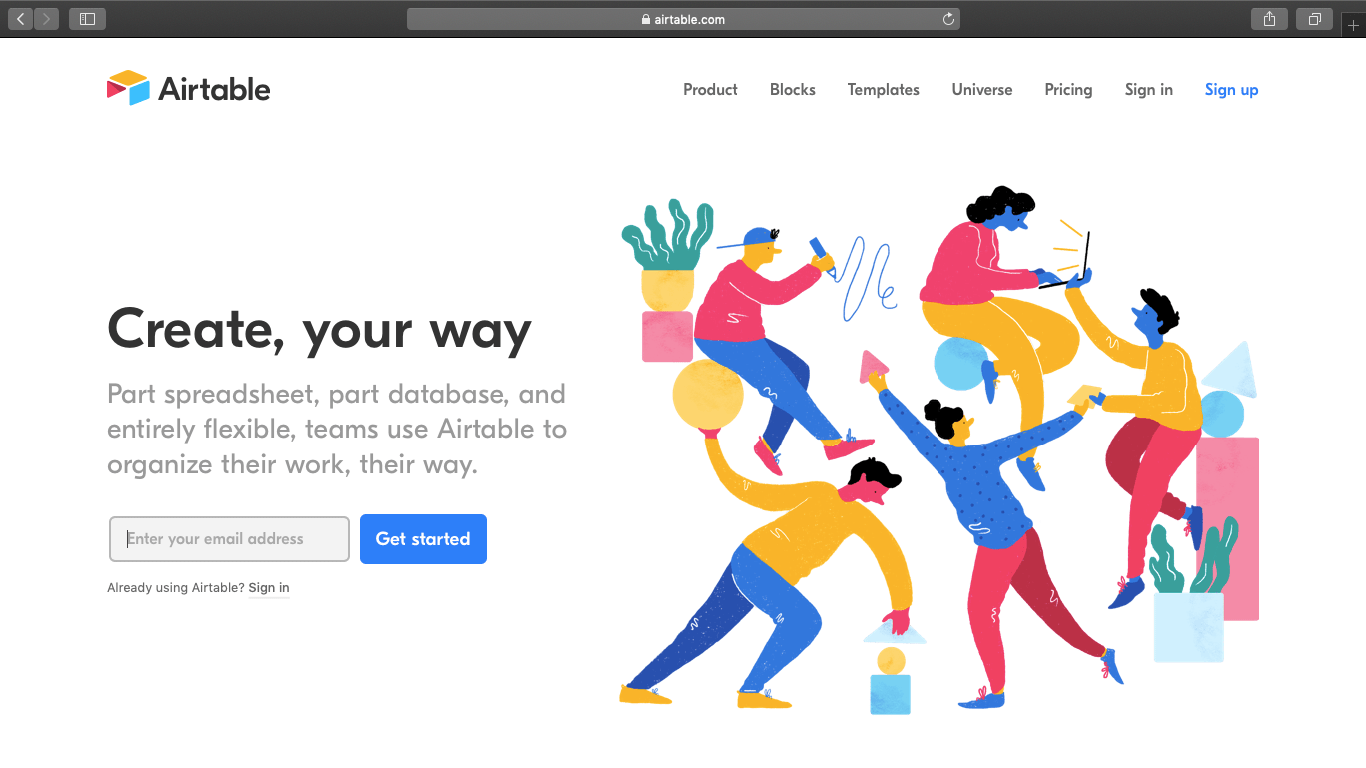 Airtable Homepage Review
