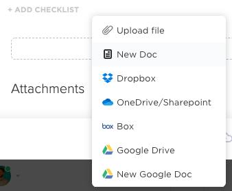 add attachment in task clickup