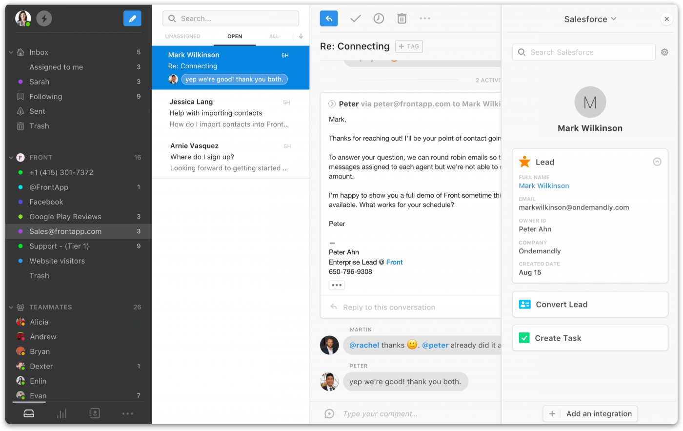 front app online collaboration tool