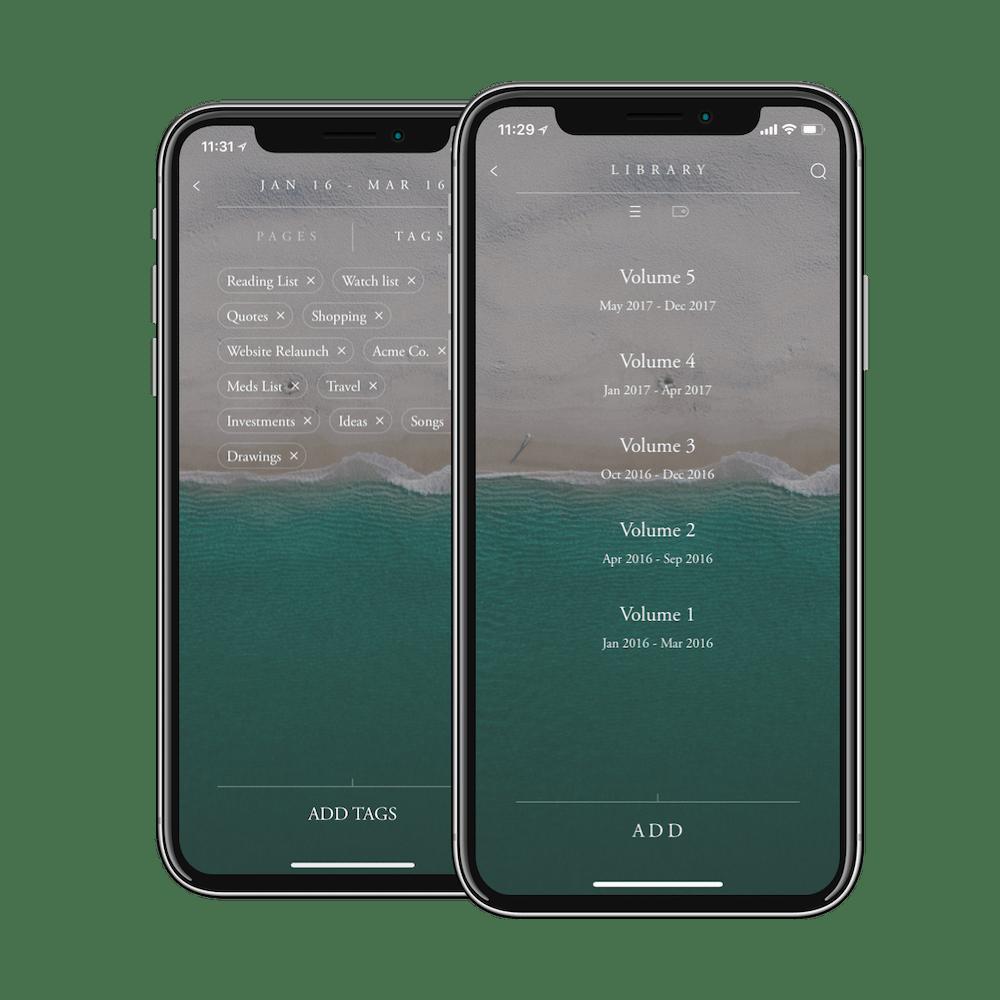 bullet journal companion mobile app