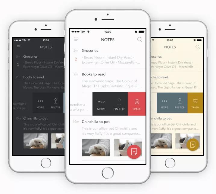 bear mobile notepad app