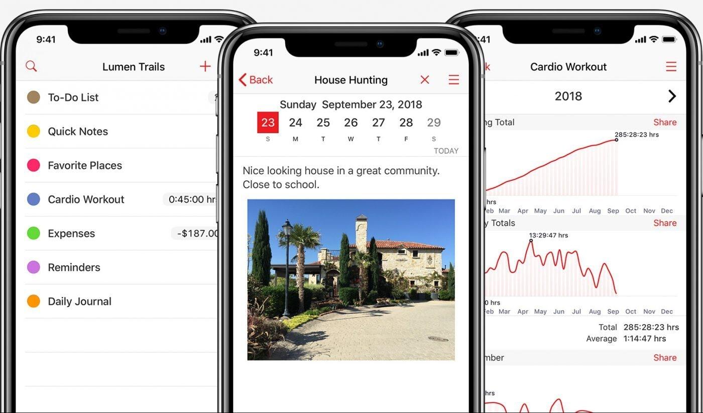 lumen trails daily planner app