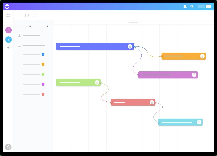 ClickUp Gantt Chart illustration