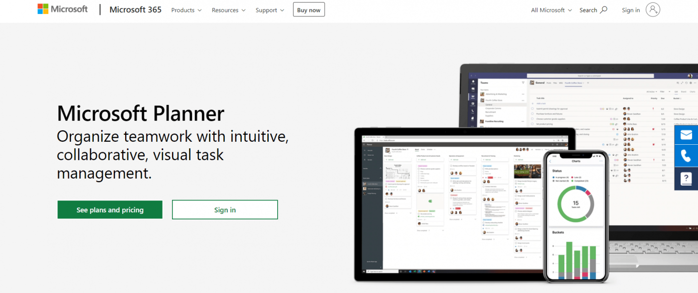 microsoft planner homepage