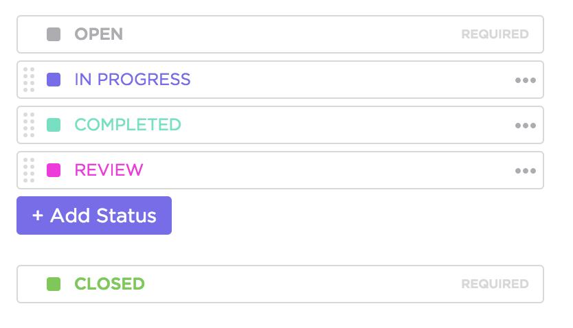 custom status in clickup