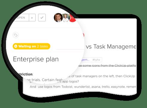 task dependencies in clickup