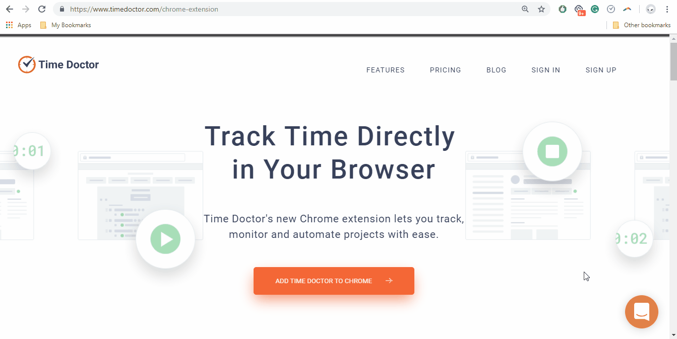 track time in your browser time doctor