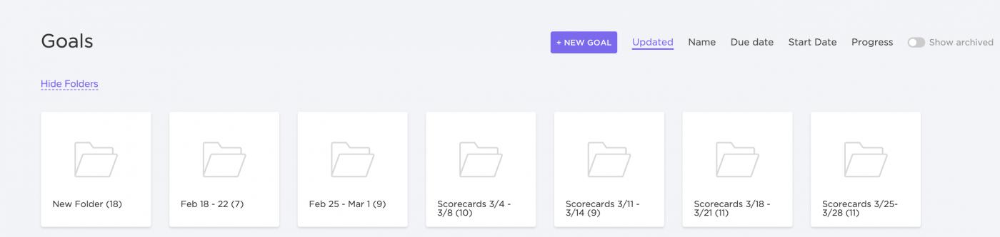 goal folders