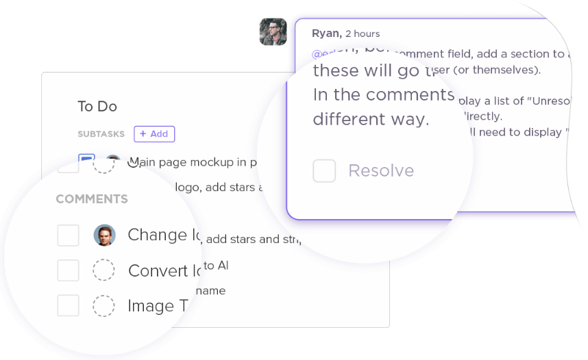 assigning comments in clickup