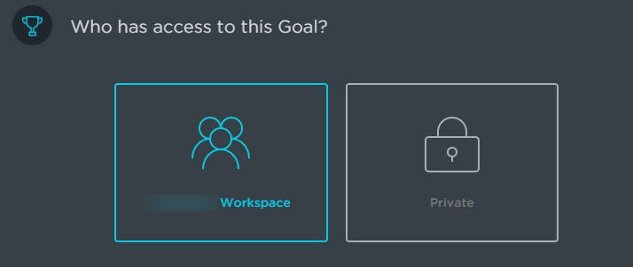 goal access in clickup