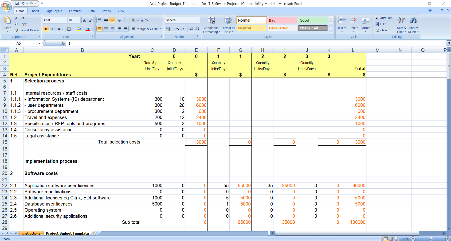 Nonprofit Startup Budget Template from clickup.com