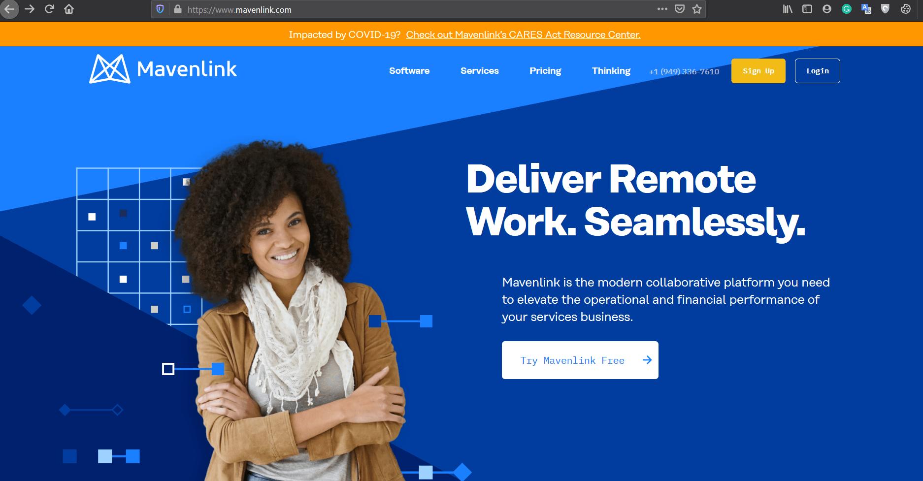 Mavelink homepage