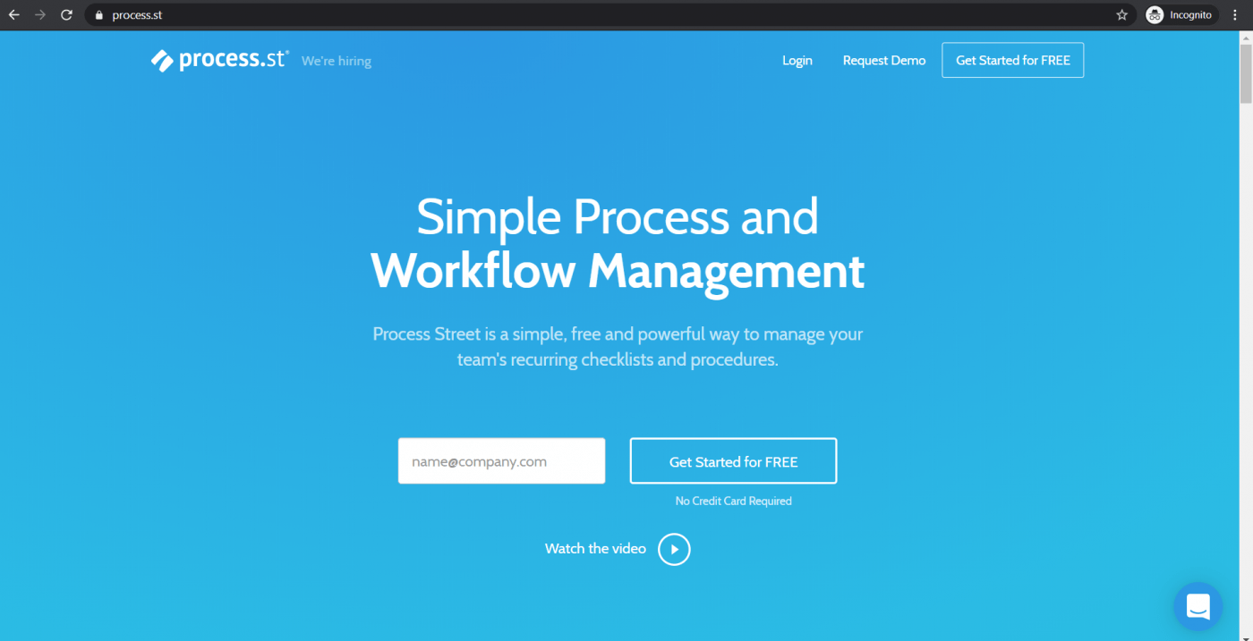process st homepage