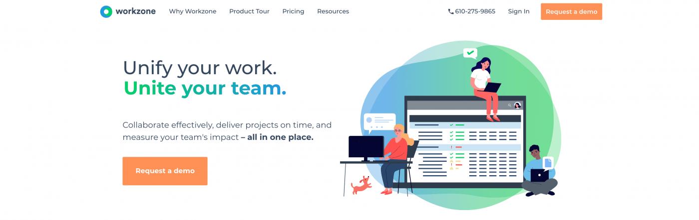 Workzone homepage 2021