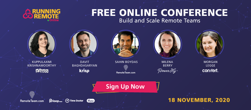 running remote conference line up