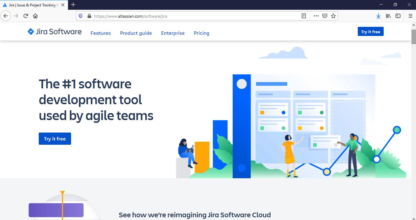 Jira home page