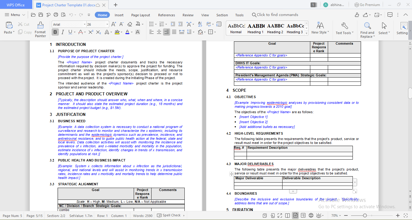 CDC project template