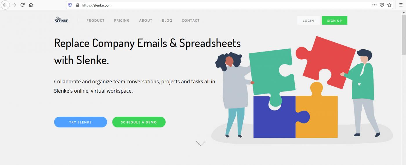 Slenke home page