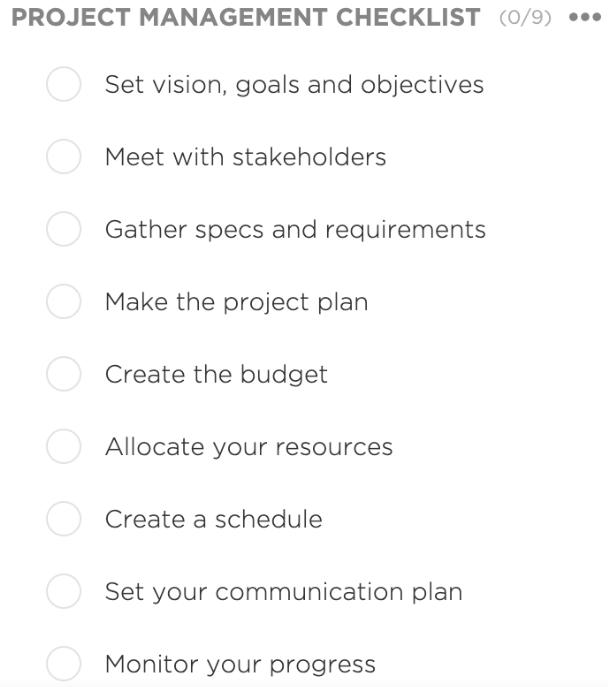 ClickUp checklist