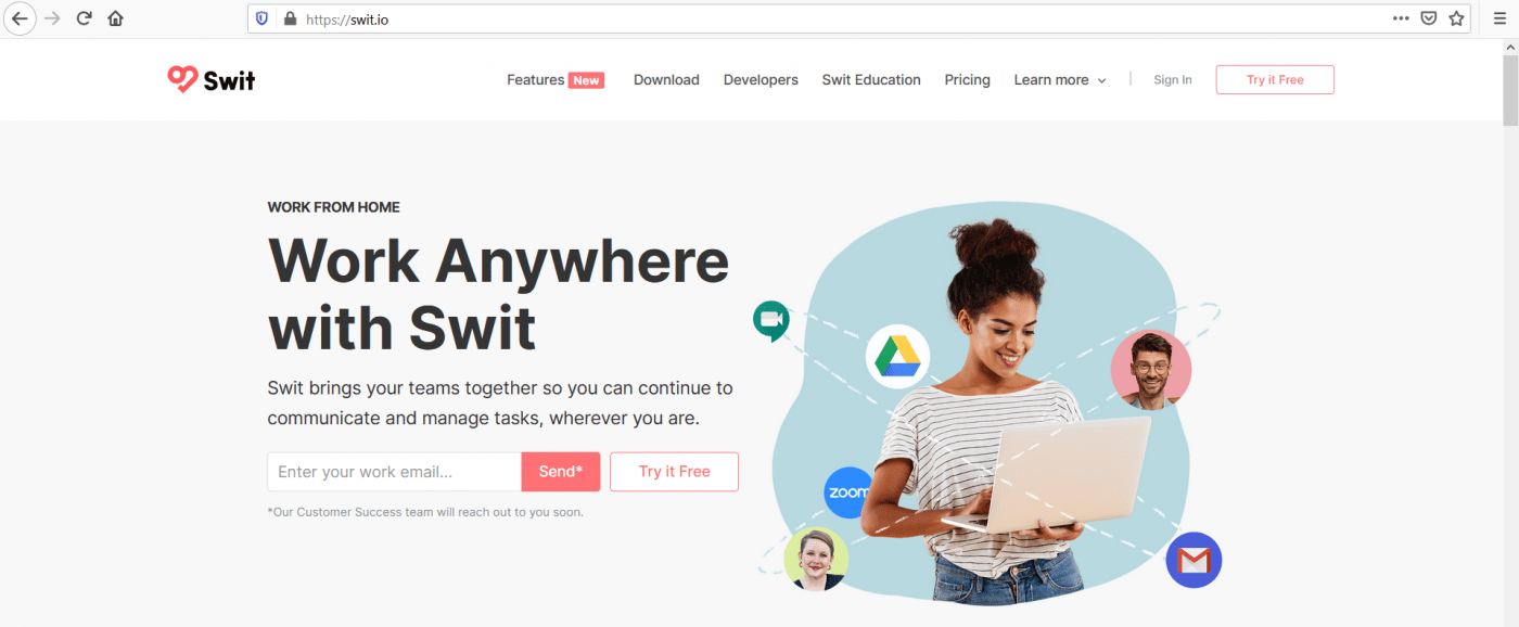 Swit home page