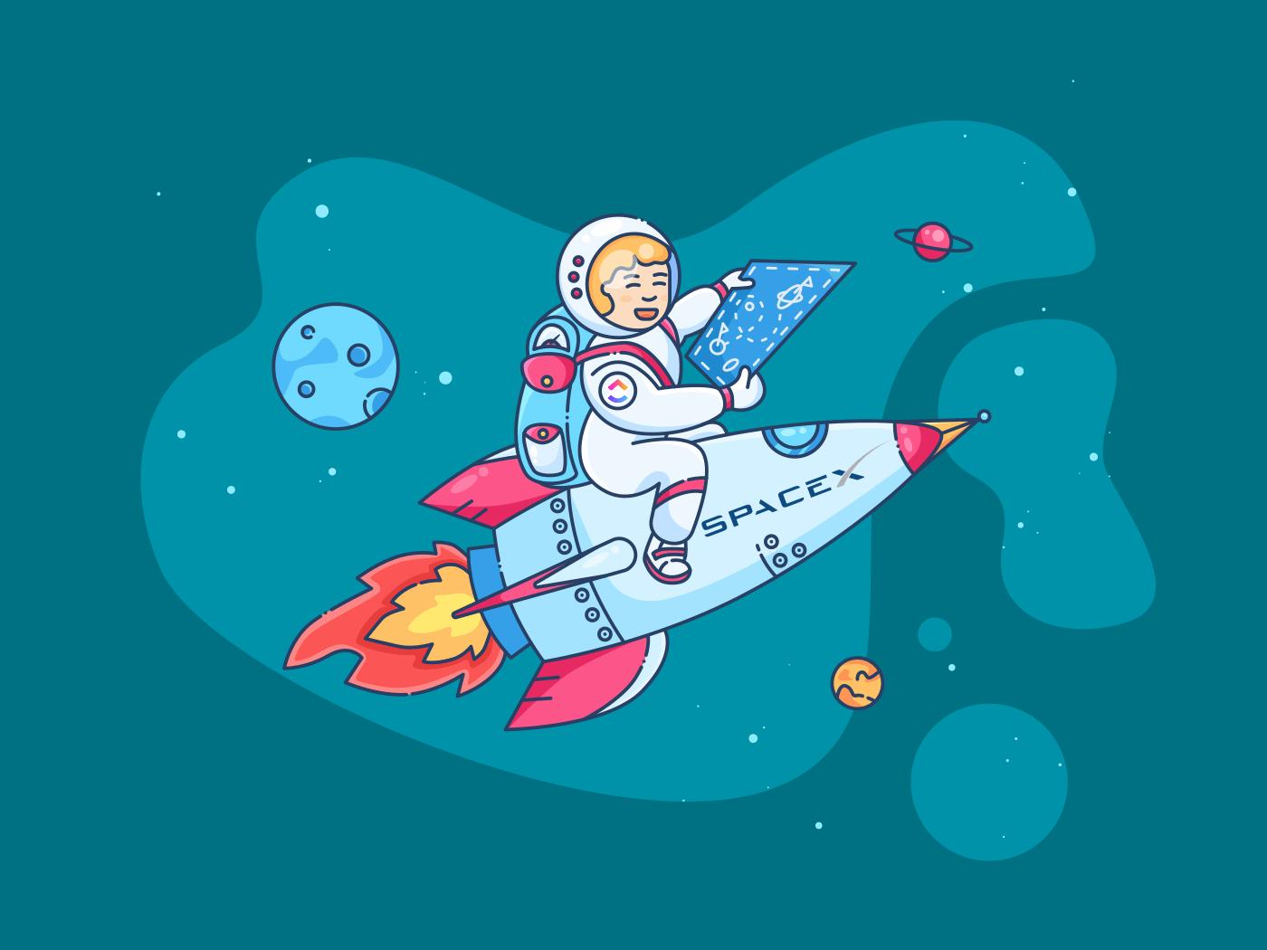 man riding rocket