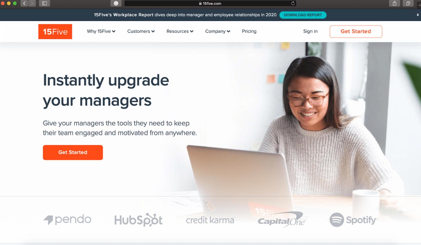 15five homepage