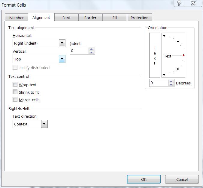 Excel's Format Cells Window