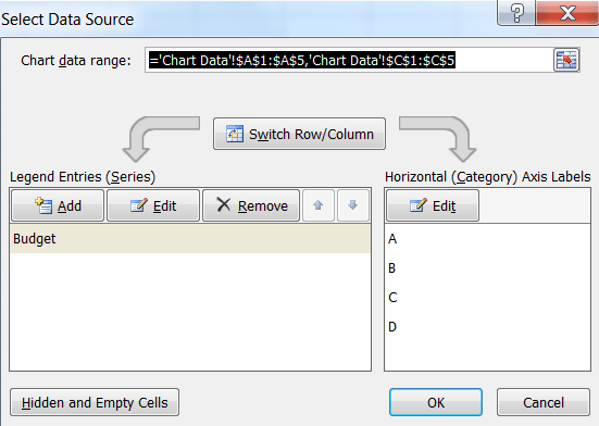 category axis in excel