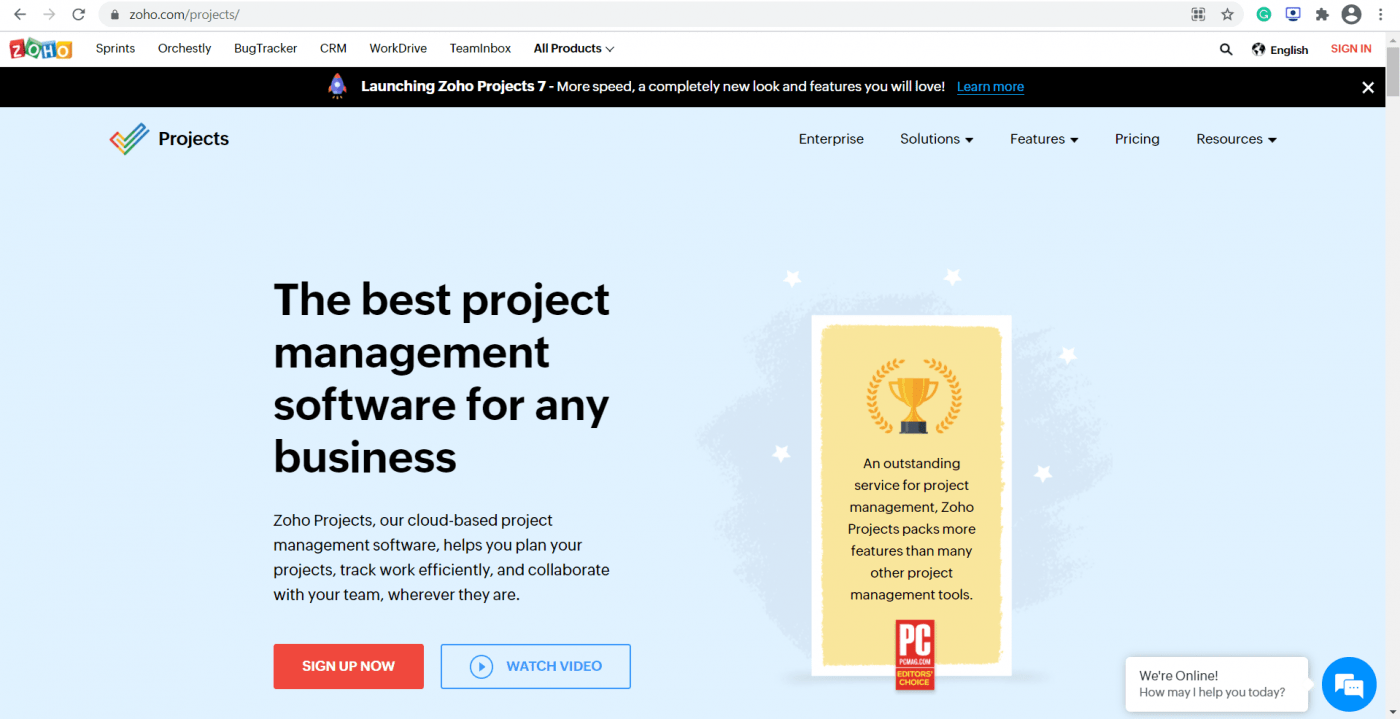 Zoho project management