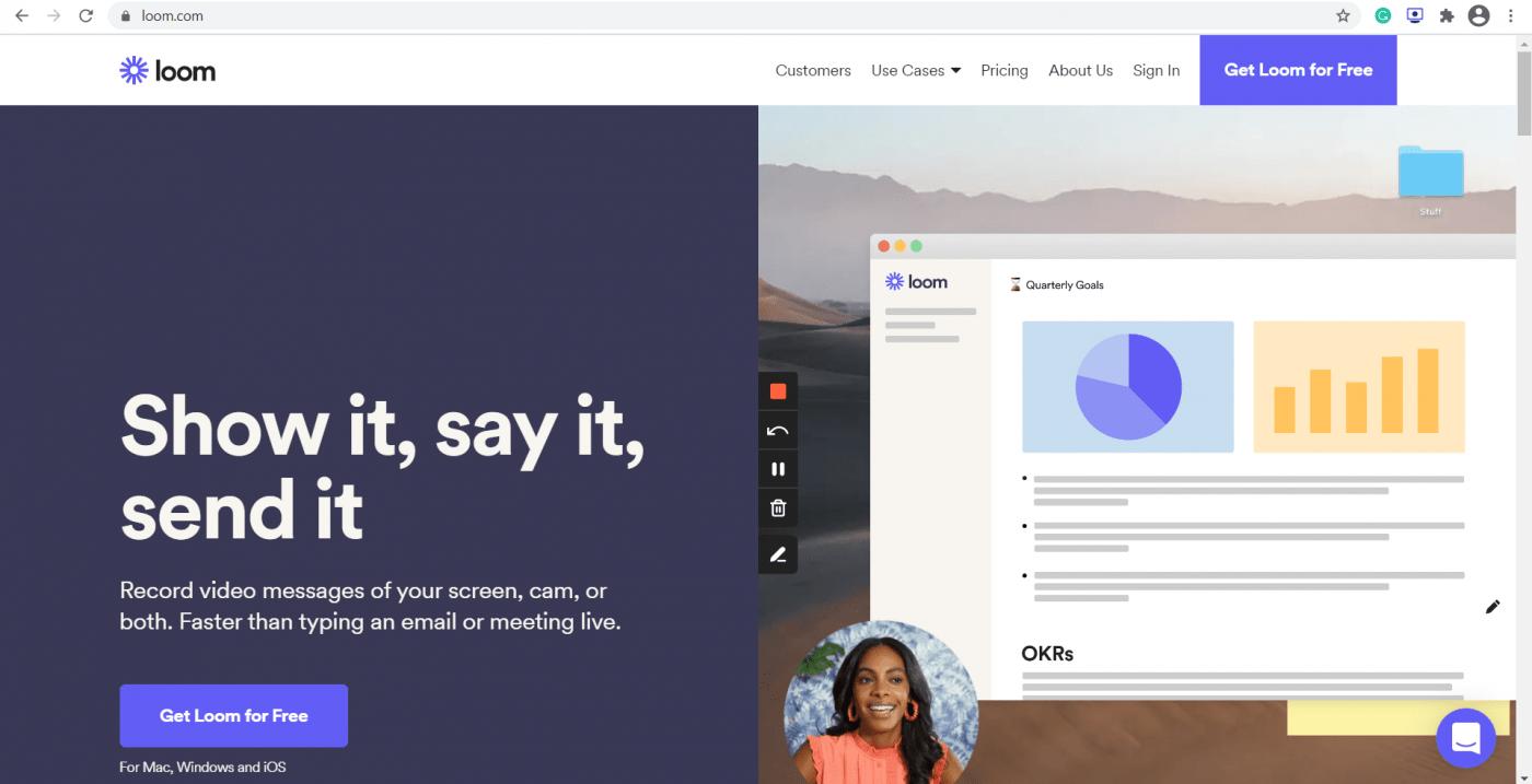 Loom home page