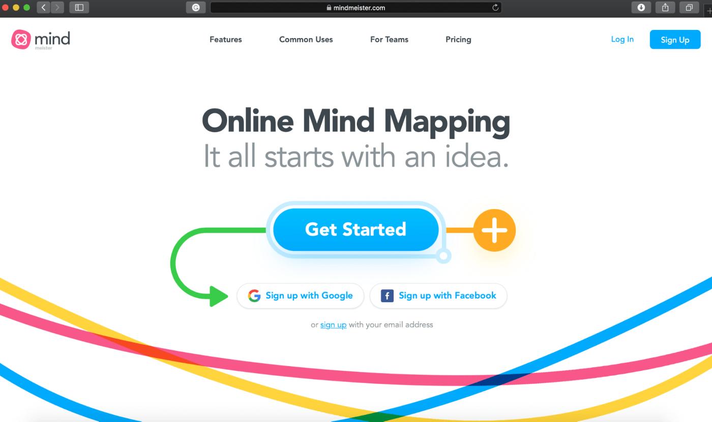 MindMeister homepage