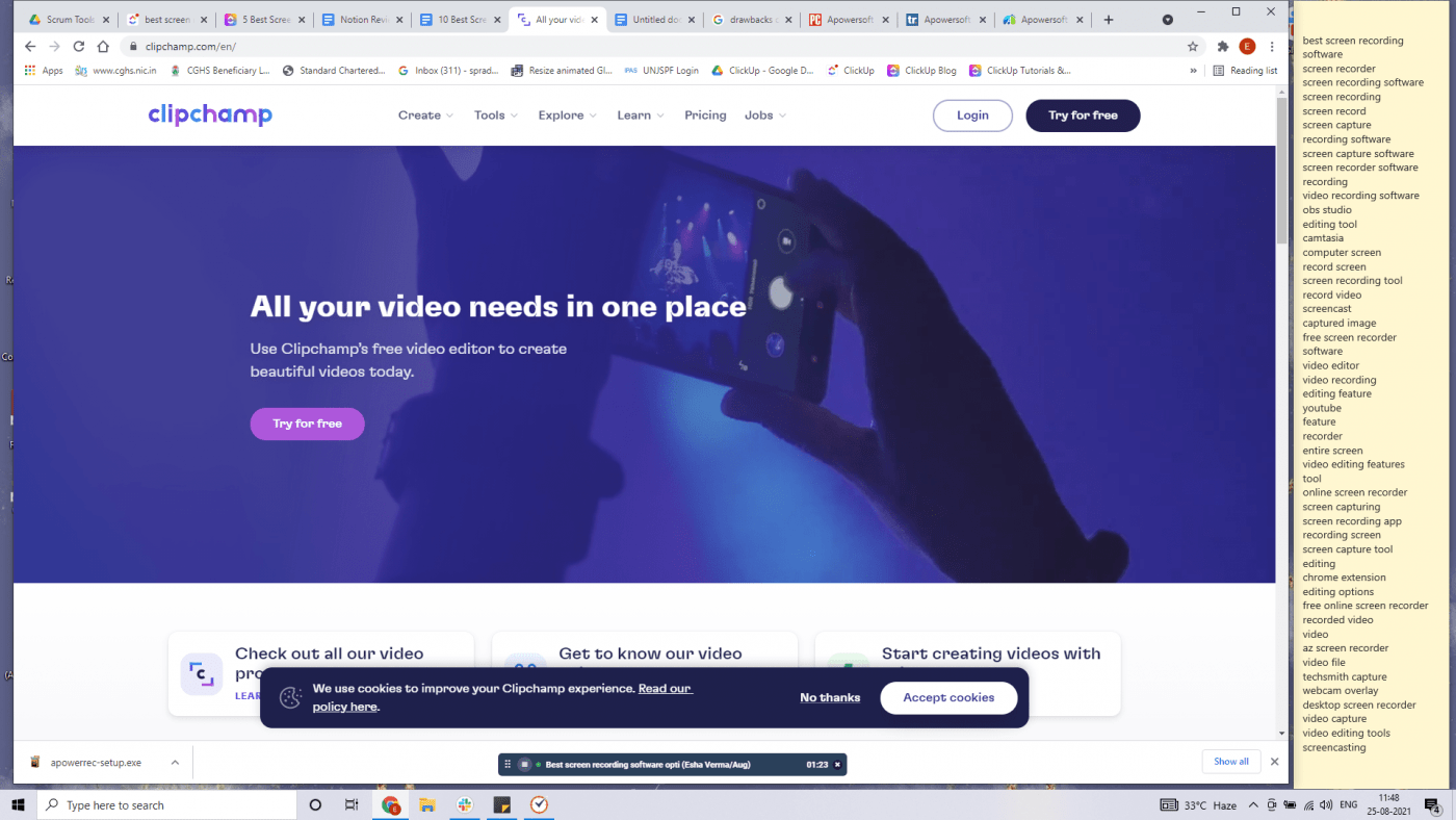 Clipchamp home page