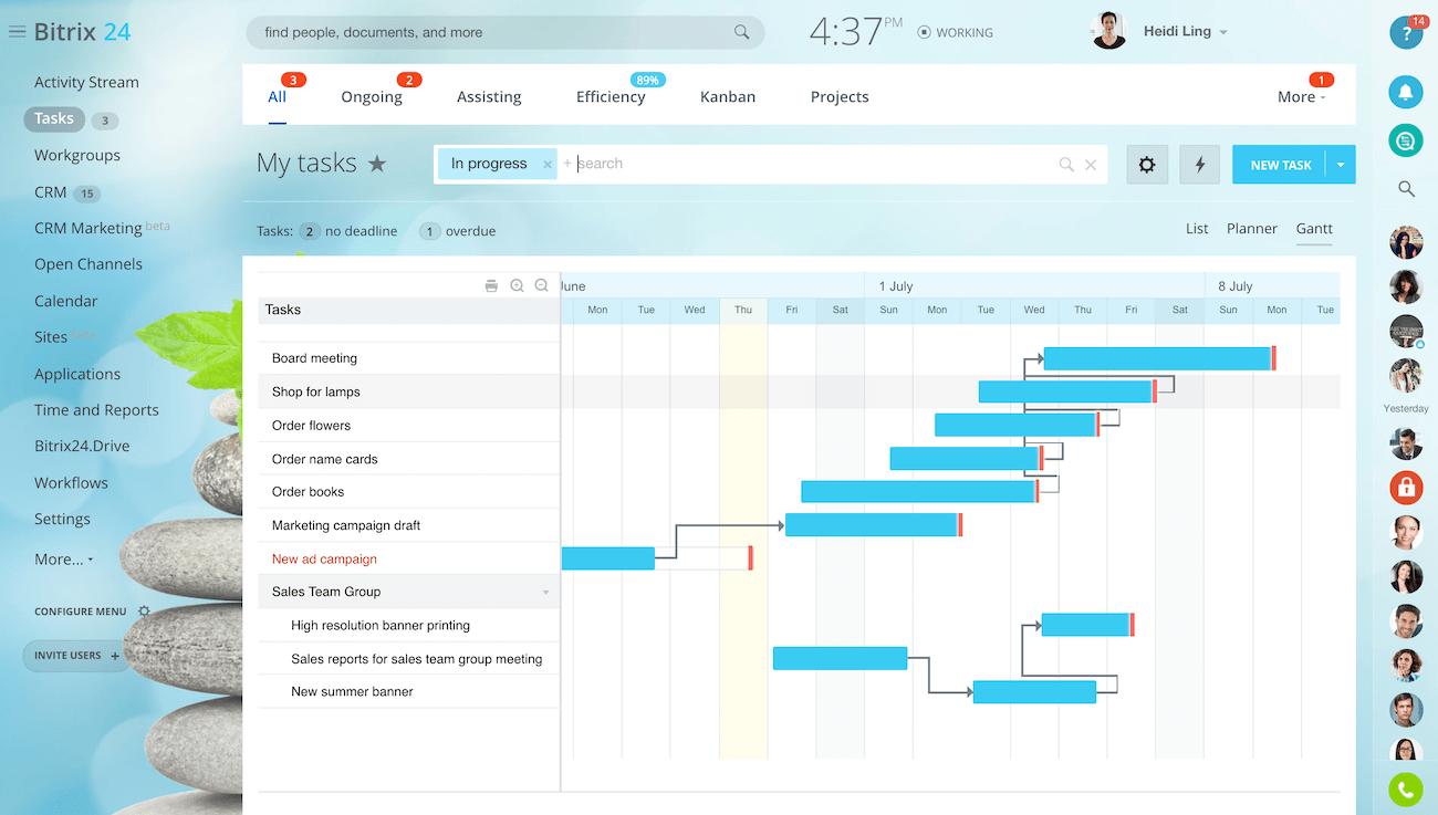 Bitrix24 Gantt chart