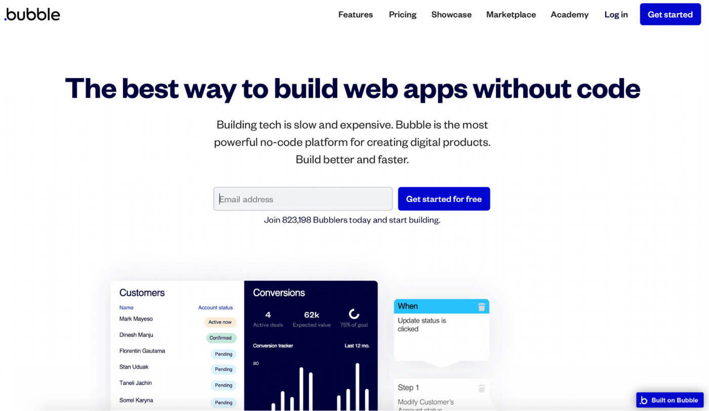 bublle.io landing page