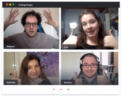 Coding Escape virtual teammates