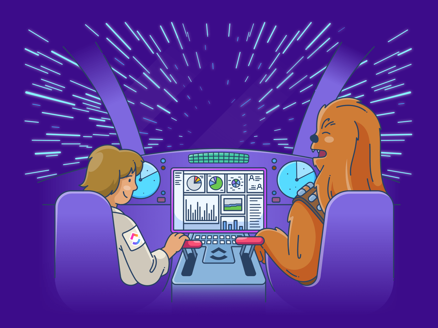 hans and chewie dashboard software
