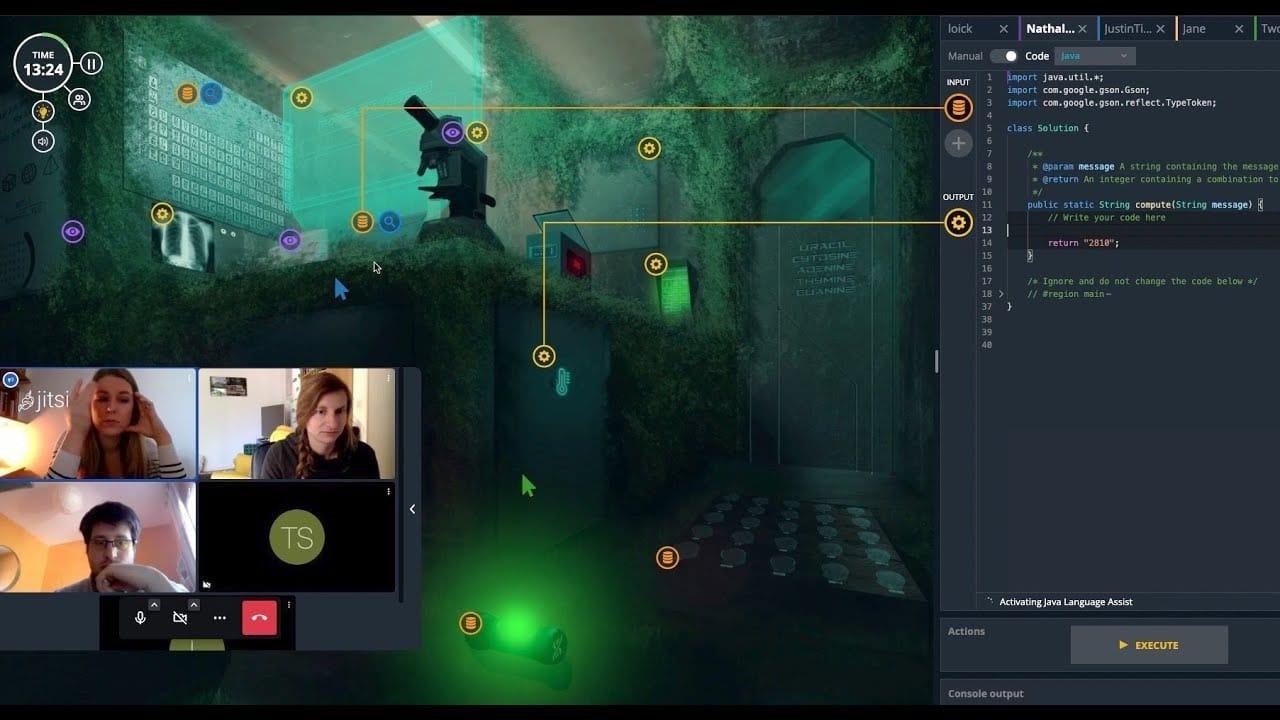 Coding Escape virtual escape room mission