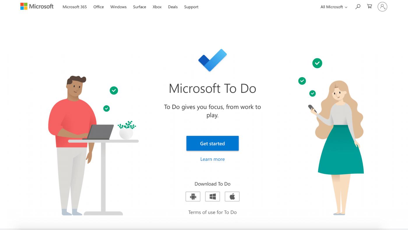 microsoft to do home page