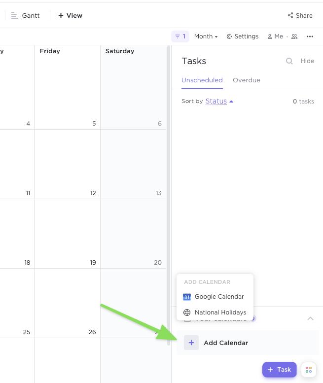 Adding Google Calendar to ClickUp for a 2-way calendar sync