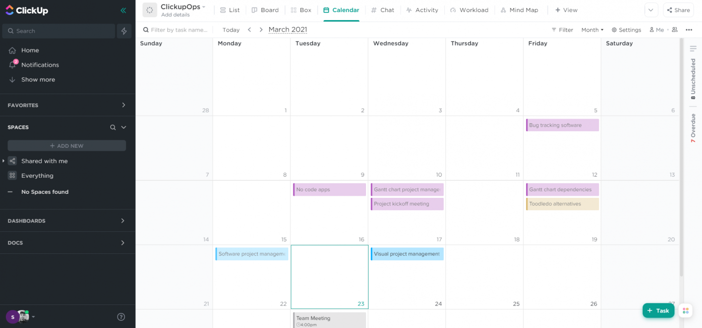 clickup calendar view