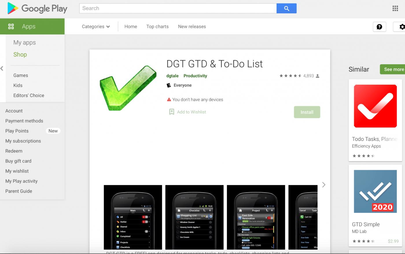 DGT GTD home page