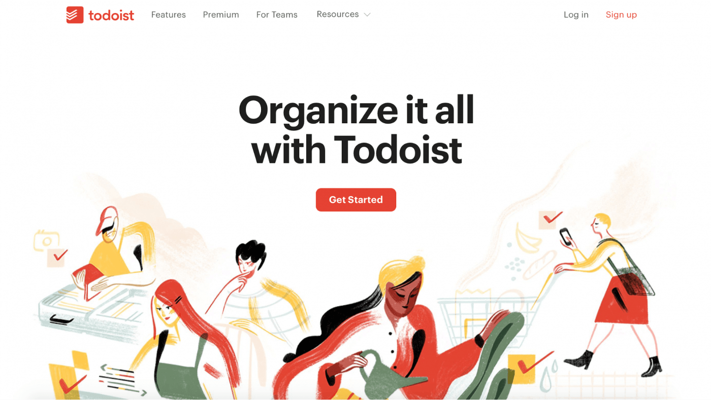 todoist landing page