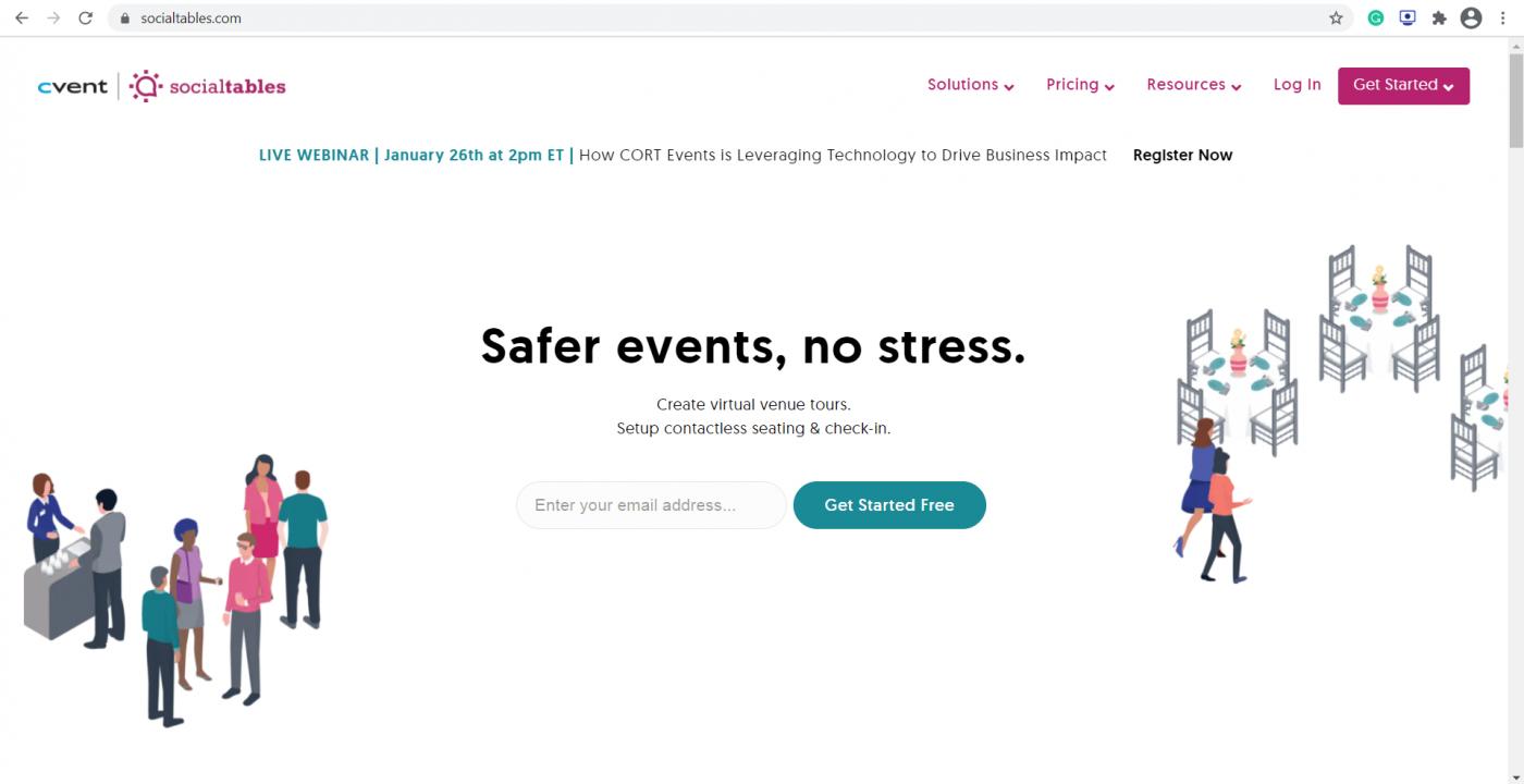 social tables homepage