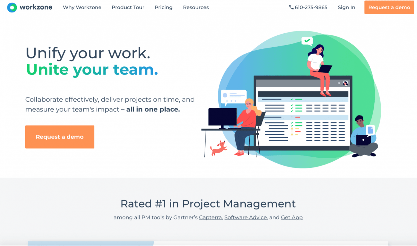Workzone home page
