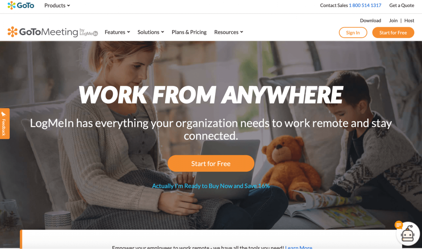 goto meeting work from anywhere homepage