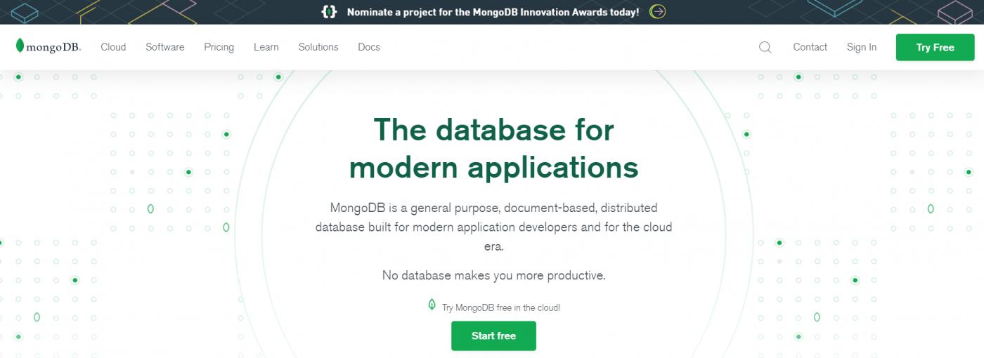 MongoDB home page
