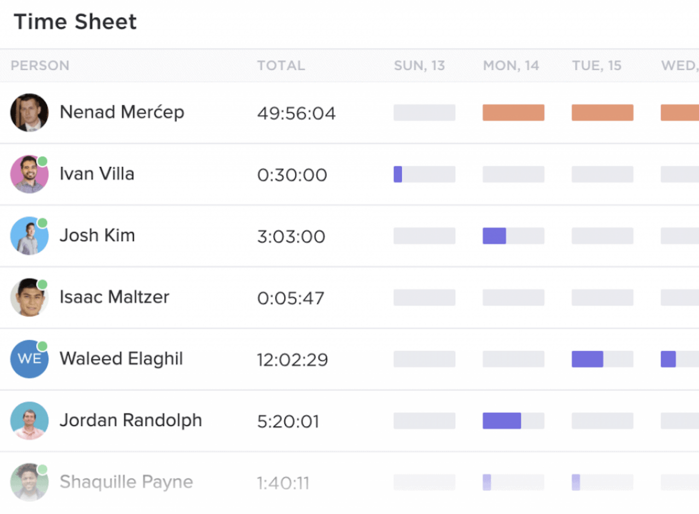 clickup time sheets